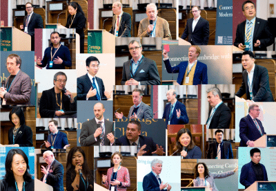Collage of 35 speakers at Cambridge China Centre 2018